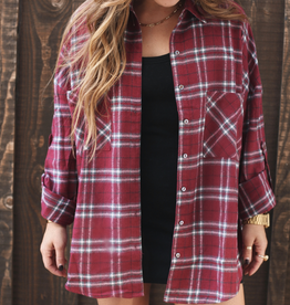 Demi Flannel Top