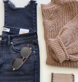 Two Tone Knit Sweater