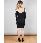 Solid Open Sholder Dress
