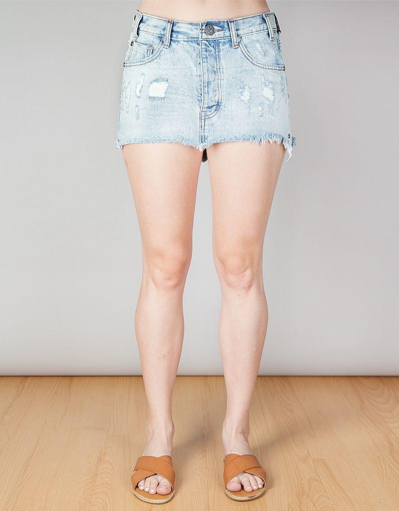 Blue Hart Junkyard Skirt