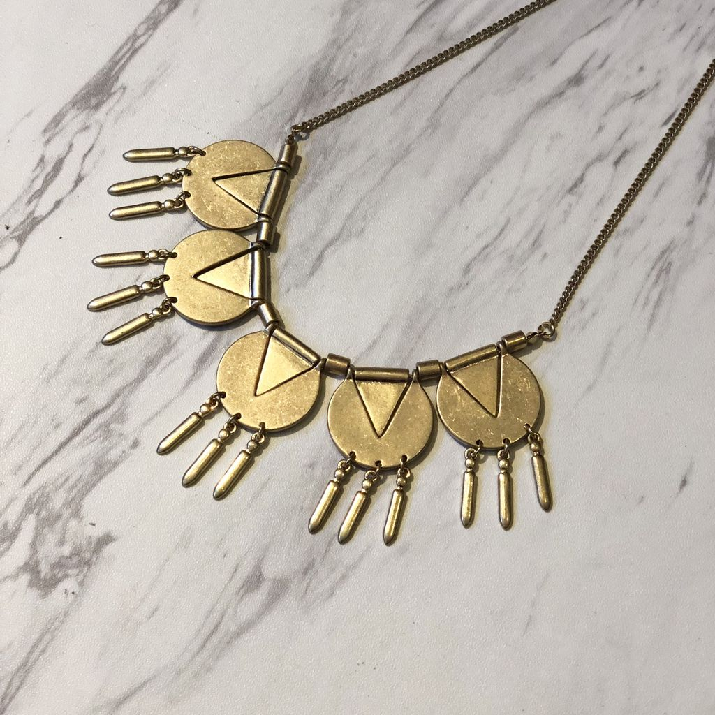 Geometric Aztec Necklace