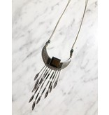 Aztec Wood Necklace
