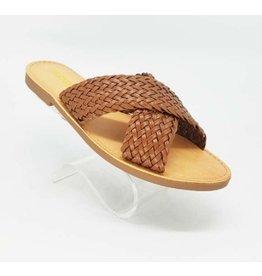 Braided X Strap Sandal