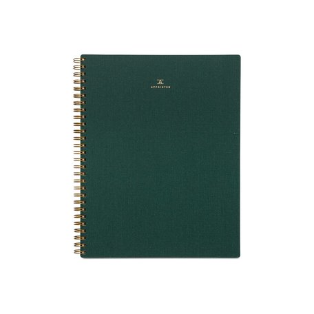 Lined Notebook -Hunter Green
