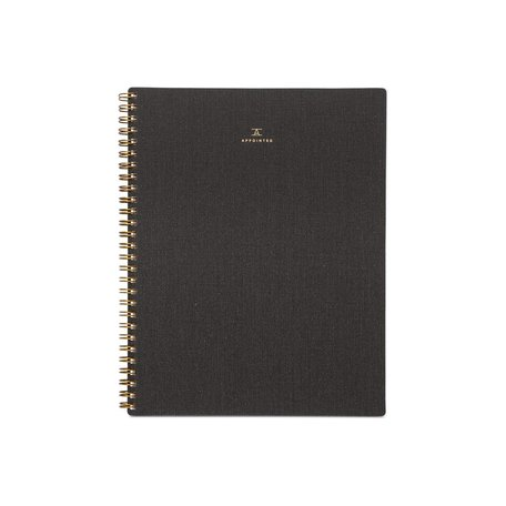 Lined Notebook -Charcoal Grey