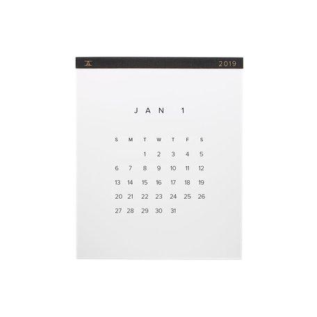 2019 Wall Calendar -Charcoal
