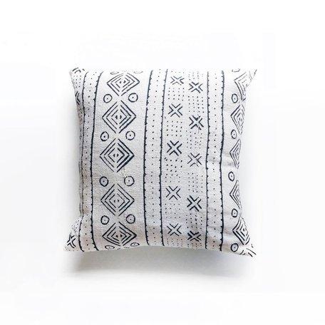 White Mudcloth Cushion - Harvest