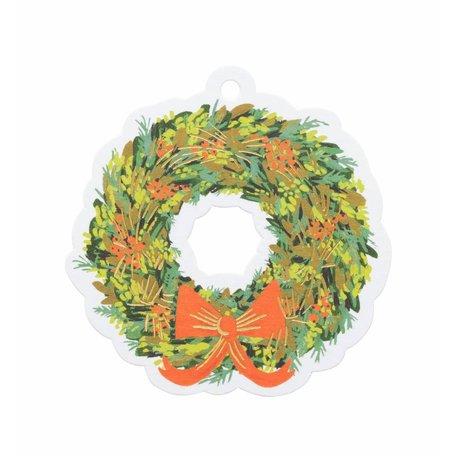 Wreath Die-Cut Gift Tags Pack/8