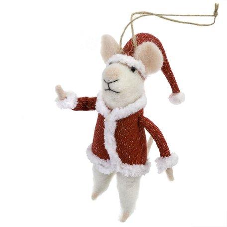 Santa Mouse Ornament
