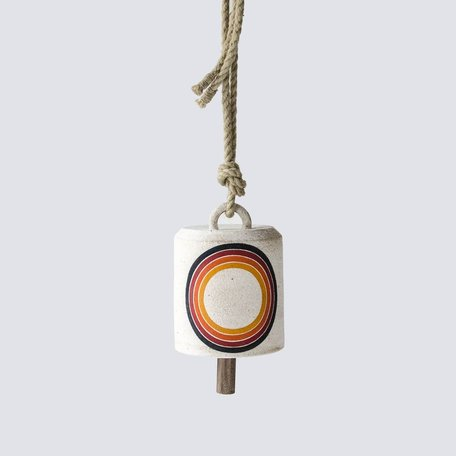 Rings Rainbow Wide Thrown Bell -Medium