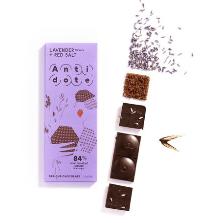 Lavender & Red Salt 84% Bar