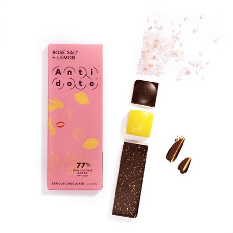 Rose Salt & Lemon 77% Bar