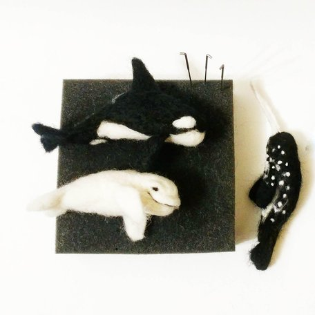 WHALES - Needle Felting Workshop with Warm & Drift