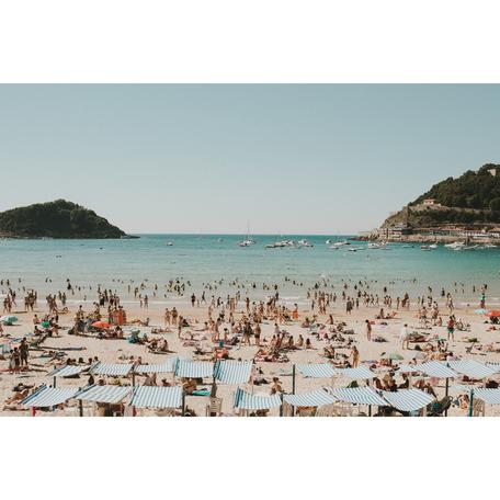 Beach Print, San Sebastian 24x36