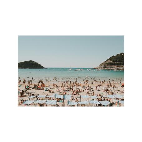 Beach Print, San Sebastian 8x10