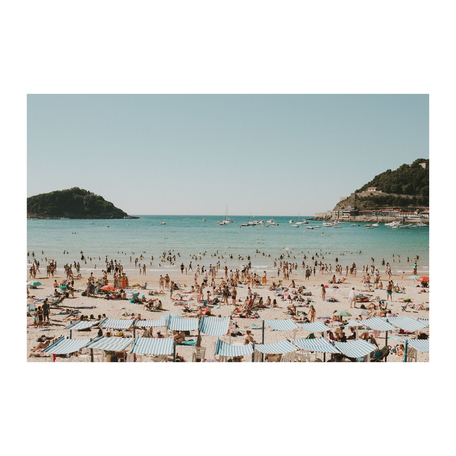 Beach Print, San Sebastian 16x20