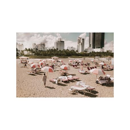 Pink Umbrellas Print, Miami 8x10