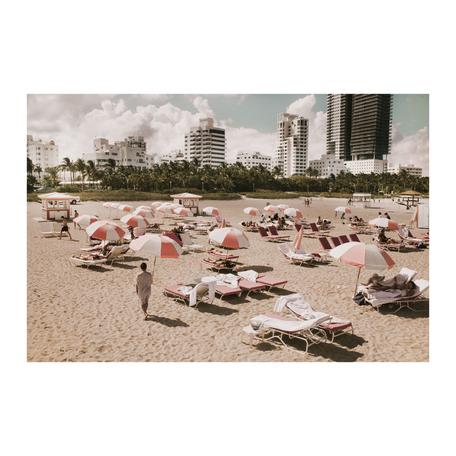 Pink Umbrellas Print, Miami 16x20