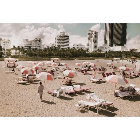Pink Umbrellas Print, Miami 24x36