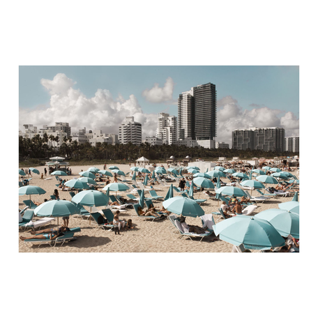 Blue Umbrellas Print, Miami 16x20