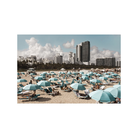 Blue Umbrellas Print, Miami 8x10