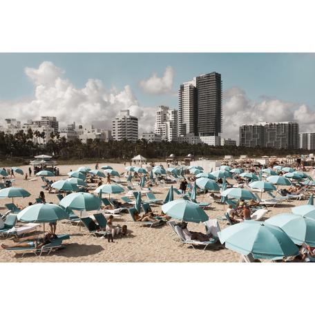 Blue Umbrellas Print, Miami 24x36