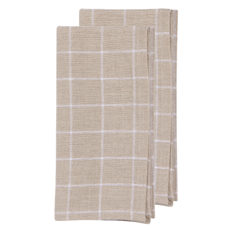 Washed Linen Napkin S/2 -Graph Paper
