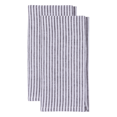 Washed Linen Napkin S/2 -Bengal Stripe