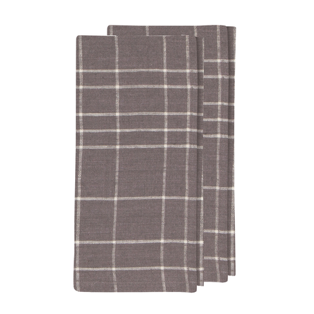 Washed Linen Napkin S/2 -Grid