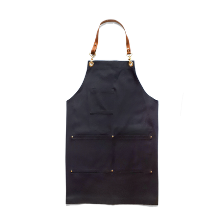 Black Canvas & Leather Apron