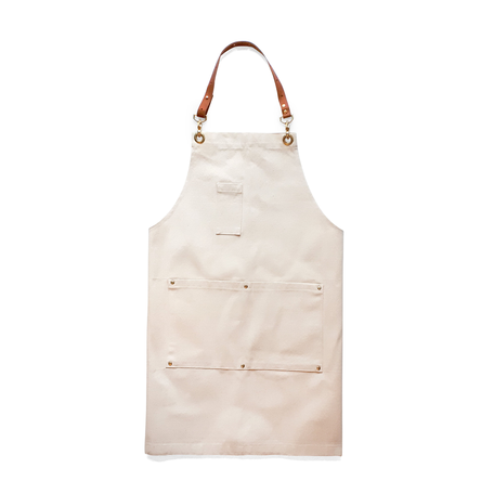 White Canvas & Leather Apron