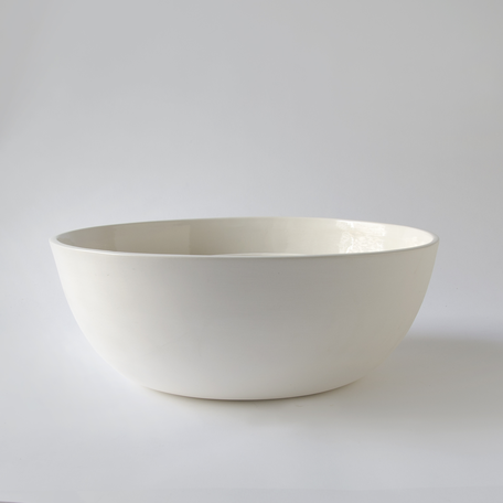 "14.5"" Sharing Bowl -White Porcelain"