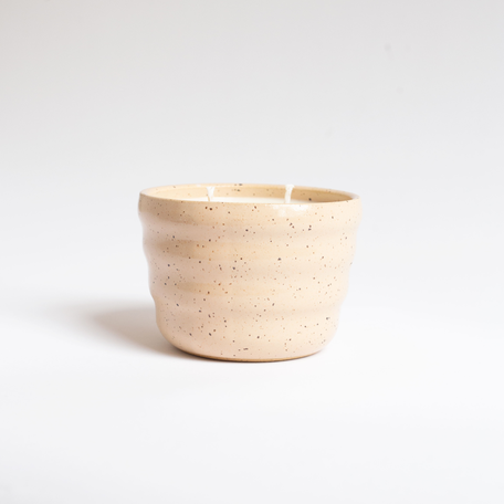 Rhubarb + Mint Candle in Pink Ceramic Vessel