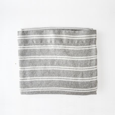 """Forte Bath Towel -Gery/Ivory Stripe29x60"""""""
