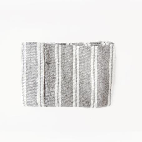 """Forte Hand Towel -Grey/Ivory Stripe18x34"""""""