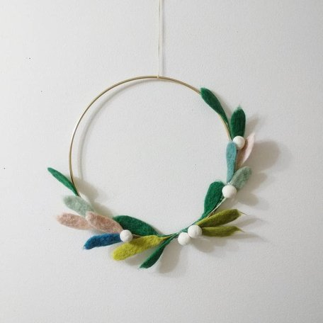 WREATH -Needle Felting Workshop with Warm & DriftSunday Nov 24