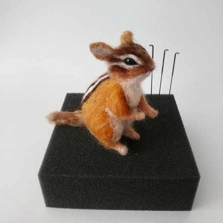CHIPMUNK -Needle Felting Workshop with Warm & DriftSunday Oct 6