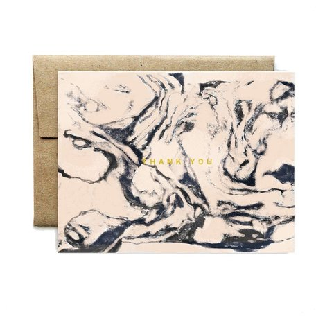 Carrara Peach Thank You Card /8