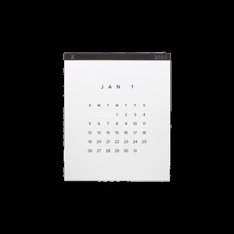 2020 Wall Calendar -Charcoal Grey