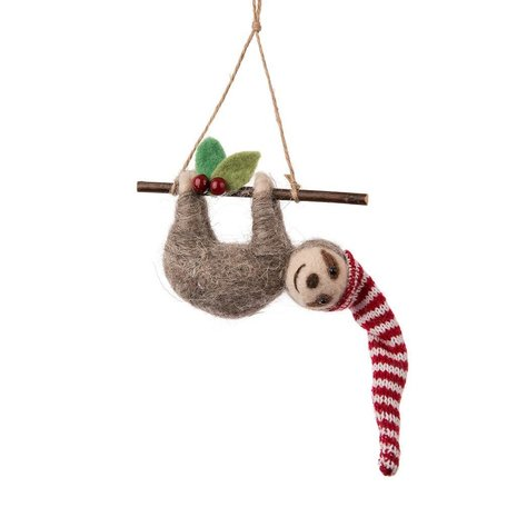 Sloth on Branch Ornament