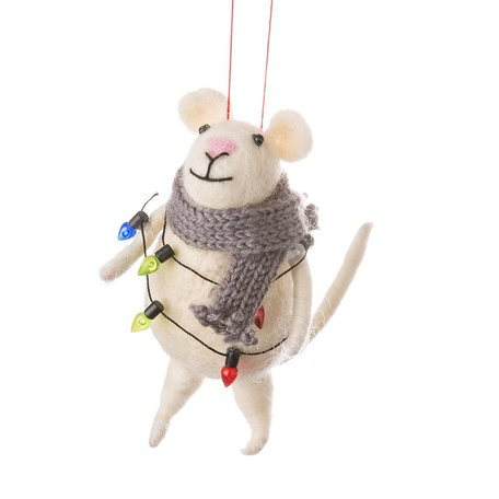 Mouse with Lights Ornament