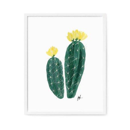 """Flowering Cacti III Print -8x10"""""""