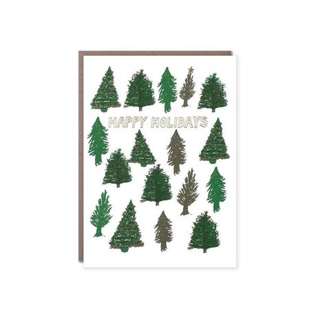 Happy Holidays Trees Card Box/6