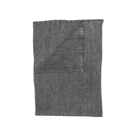Fringed Throw -Dark Grey