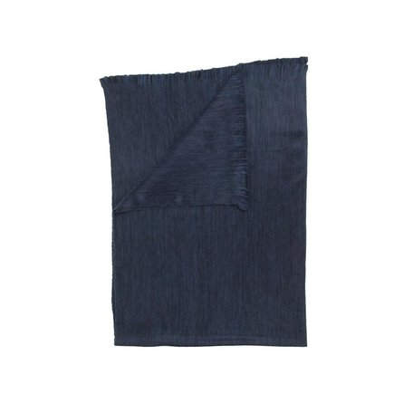 Fringed Throw -Navy