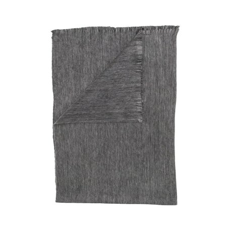 Fringed Blanket -Dark Grey