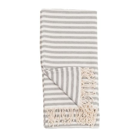 Striped Turkish Towel -Grey