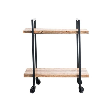 Wood Cart on Casters
