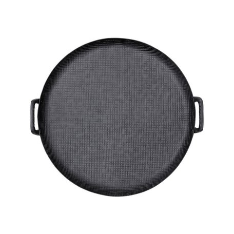 Black Round Tray w/ Handles
