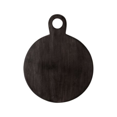 Black Round Serving Board